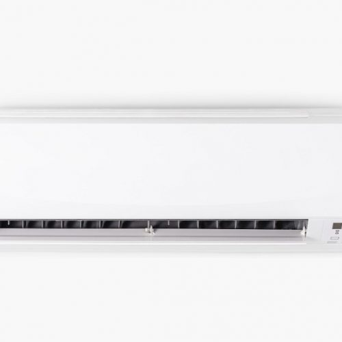air-conditioner-mounted-white-wall